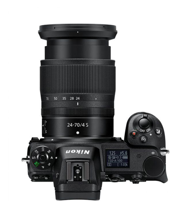 Nikon Z7 Dessus